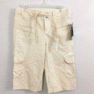 Cargo Style Petite Longer Shorts NWT
